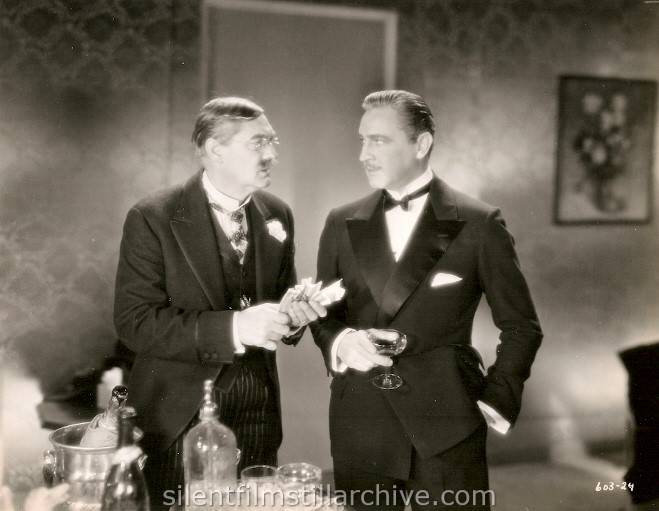 Lionel Barymore and John Barrymore in GRAND HOTEL (1932).