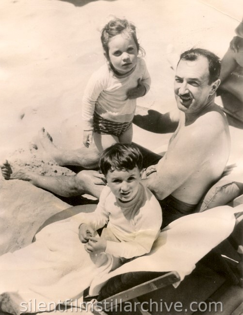 Raymond Griffith with children Patricia and Michael