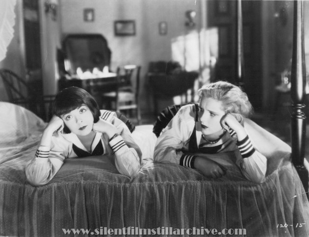 Colleen Moore and Diane Ellis in HAPPINESS AHEAD (1928)