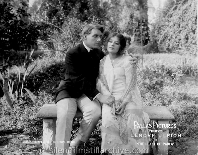 Forrest Stanley and Lenore Ulrich in THE HEART OF PAULA (1916)