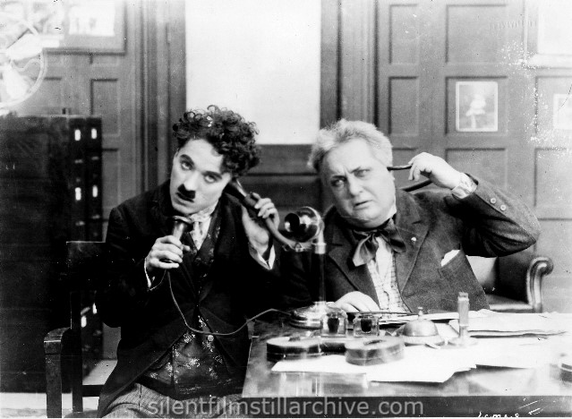 HIS NEW JOB (1915) with Charlie Chaplin and Robert Bolder