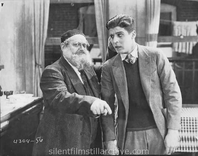 Rudolph Schildkraut and George Lewis in HIS PEOPLE (1925)