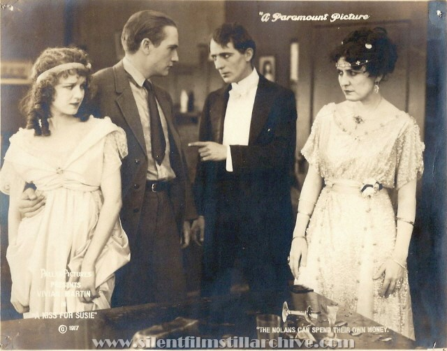 Vivian Martin, Tom Forman, Jack Nelson and Pauline Perry in A KISS FOR SUSIE (1917)