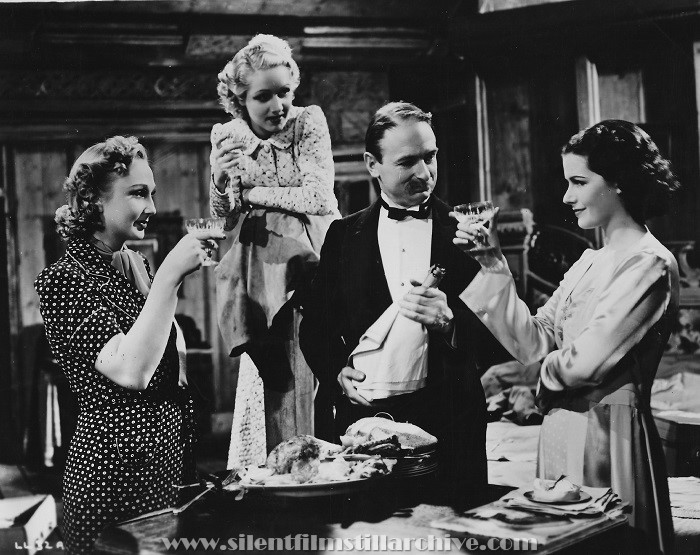 Googie Withers, Sally Stewart, John Miller, and Margaret Lockwood in THE LADY VANISHES (1938)