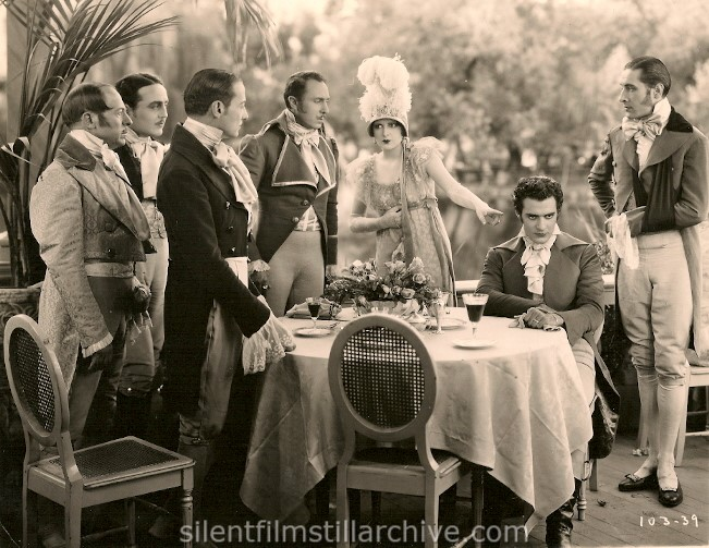 Gino Corrado, Armand Kaliz, Billie Dove, Gilbert Roland,  and Paul Vincenti in THE LOVE MART (1927)