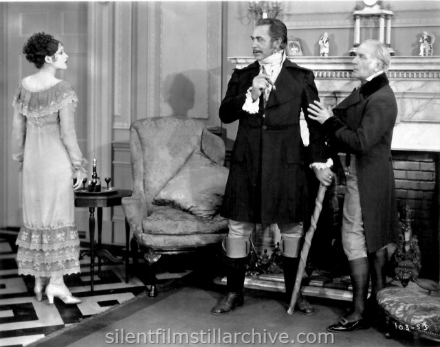 Billie Dove, Noah Beery, and Emile Chautard in THE LOVE MART (1927)