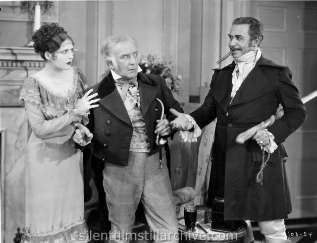 Billie Dove, Emile Chautard and Noah Beery in THE LOVE MART (1927) aka LOUISIANA