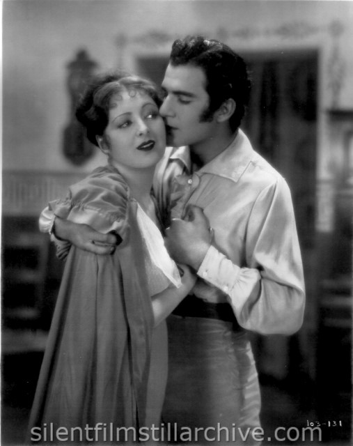 Billie Dove and Gilbert Roland in THE LOVE MART (1927)