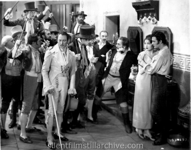 Armand Kaliz, Noah Beery, Billie Dove and Gilbert Roland in THE LOVE MART (1927)