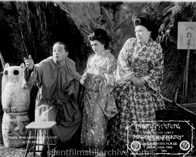 Lawrence Wood, Mary Pickford and Caroline Harris in MADAME BUTTERFLY (1915)
