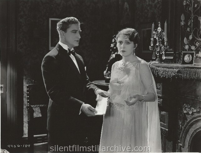 Francis X. Bushman and Billie Dove in THE MARRIAGE CLAUSE (1926).