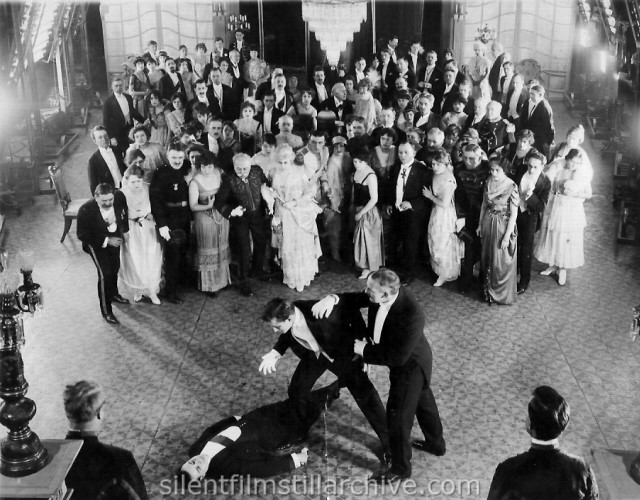 Francis X. Bushman and John Davidson in MILLION A MINUTE (1916)