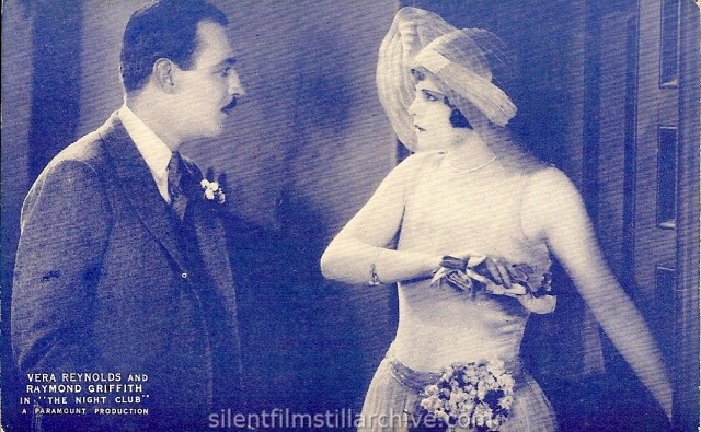 Postcard of Vera Reynolds and Raymond Griffith in THE NIGHT CLUB (1925)