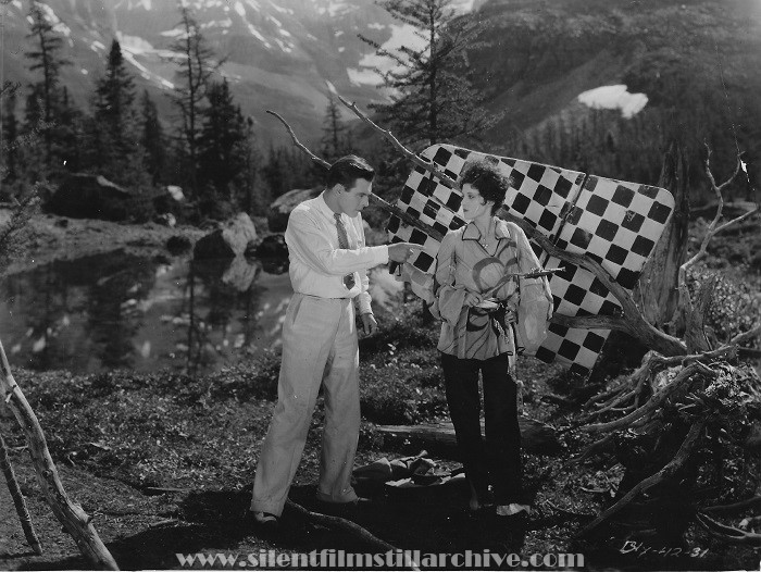 Jerry Miley and Olive Borden in PAJAMAS (1927)