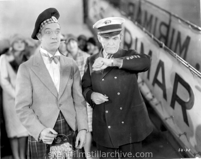 Stan Laurel and Sam Lufkin in PUTTING PANTS ON PHILLIP (1927)