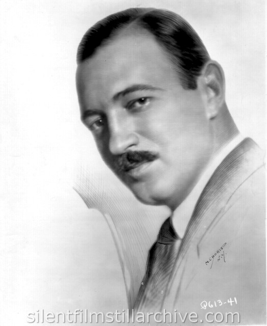 Raymond Griffith publicity photo, really a drawing.