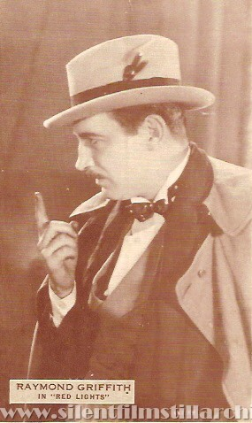 Raymond Griffith in RED LIGHTS (1923) postcard