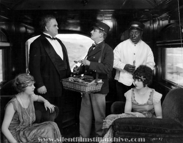 Alice Lake, Lionel Belmore, Raymond Griffith, George Reed and Marie Prevost in RED LIGHTS (1923)