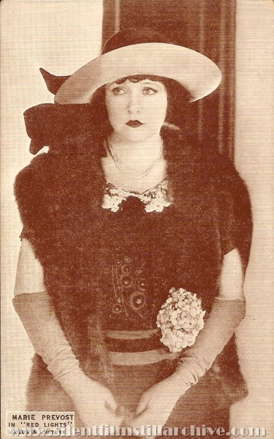 Marie Prevost in RED LIGHTS (1923) postcard