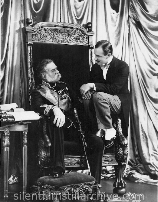 Tyrone Power, Sr. and Raymond Griffith in A REGULAR FELLOW (1925) aka HE'S A PRINCE