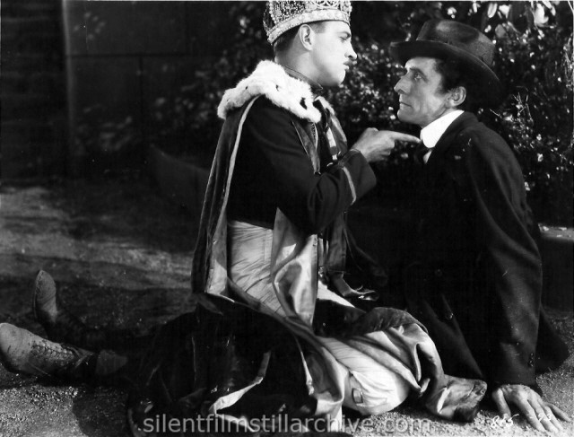Raymond Griffith and Carl Stockdale in A REGULAR FELLOW (1925) aka HE'S A PRINCE