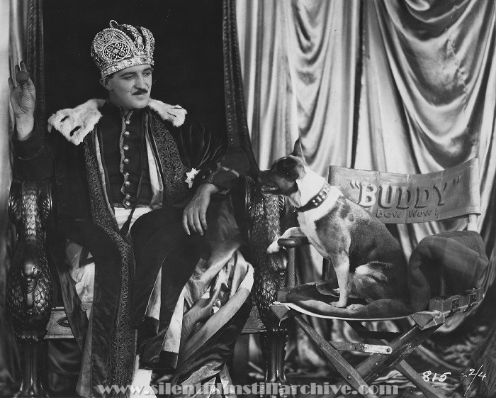 Raymond Griffith and Buddy the dog in A REGULAR FELLOW (1925) aka HE'S A PRINCE!