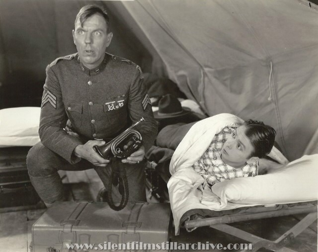Karl Dane and George K. Arthur in ROOKIES (1927).