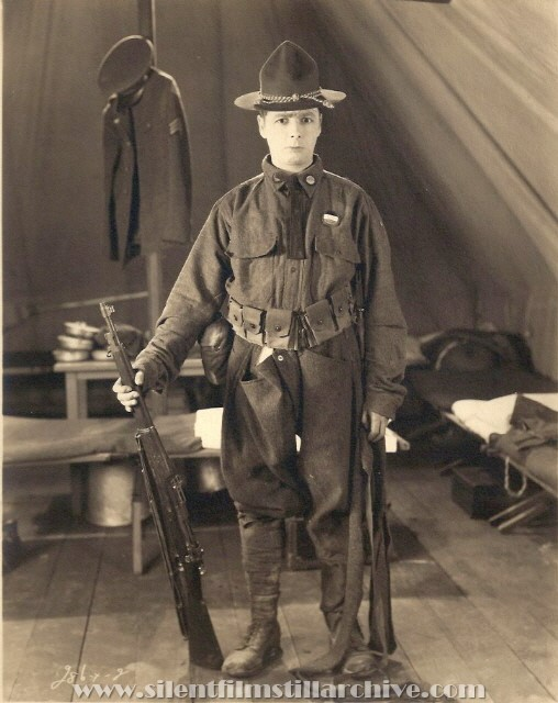 George K. Arthur in uniform for ROOKIES (1927).