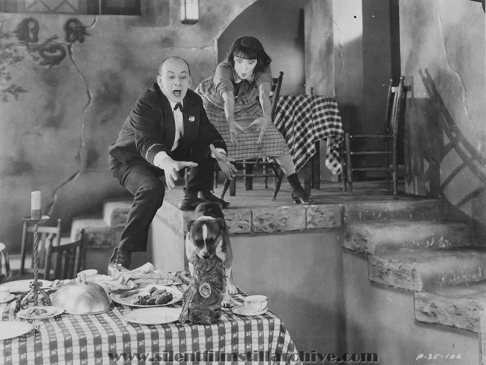 SALLY (1925) with Leon Errol, Colleen Moore and Buddy the dog
