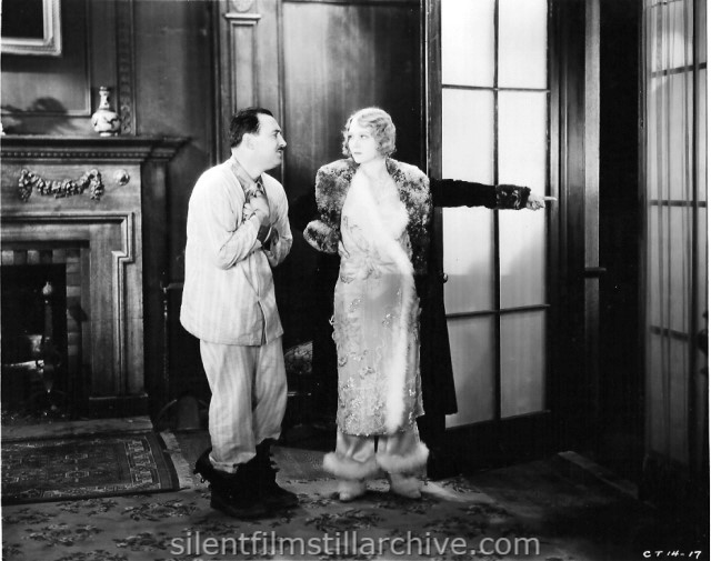 Raymond Griffith and Barbara Leonard in THE SLEEPING PORCH (1929).
