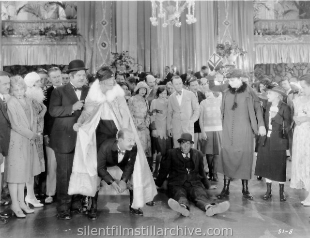 Stan Laurel, Oliver Hardy, Noah Young, Charlotte Mineau, Edna Marion and James Finlayson in SUGAR DADDIES (1927)