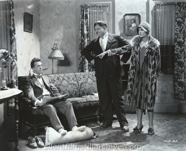 Stan Laurel, Oliver Hardy, and Vivien Oakland in THAT'S MY WIFE (1929)