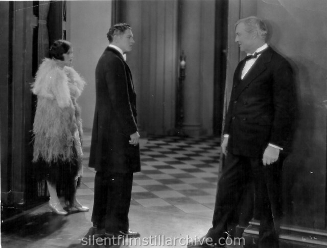 Corinne Griffith, John Bowers and Hobart Bosworth in THREE HOURS (1927)