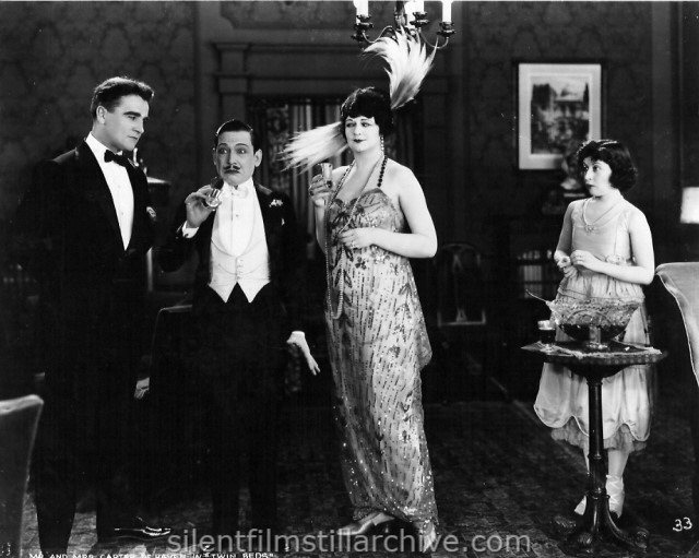 William Desmond, Carter DeHaven, Helen Raymond and Flora DeHaven in TWIN BEDS (1920)