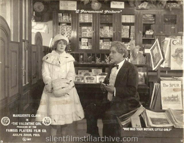 Marguerite Clark and Frank Losee in THE VALENTINE GIRL (1917).