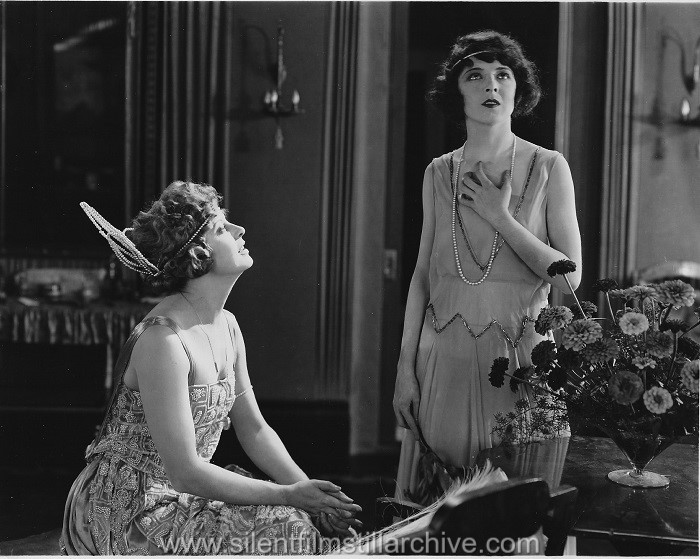 Gertrude Astor and Colleen Moore in THE WALL FLOWER (1922)