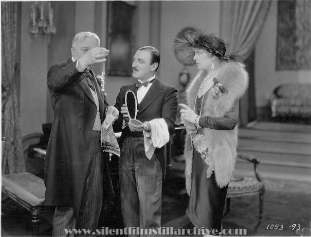 Tom Guise, Raymond Griffith and Vivian Oakland in WEDDING BILL$ (1927)