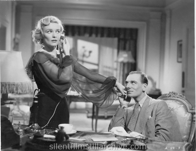Madeleine Carroll and John Gielgud in SECRET AGENT (1936)